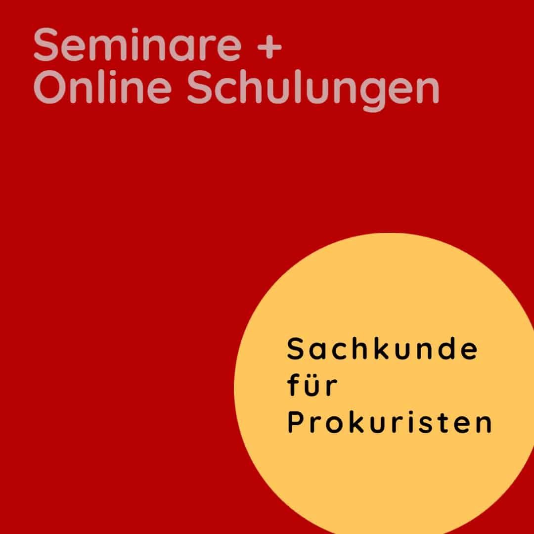Sachkunde als Prokurist: Seminare Prokura